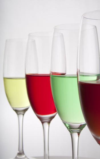 Four colorful party drinks