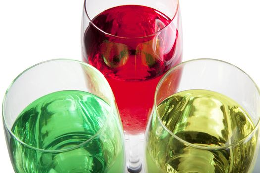Close up of party drinks