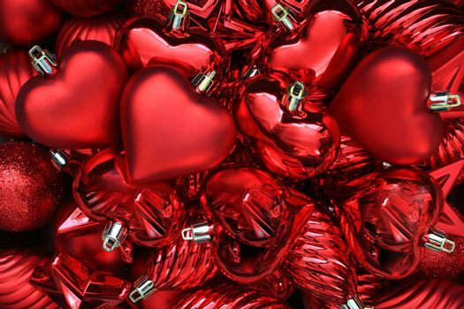 Collection of red Valentines Day hearts