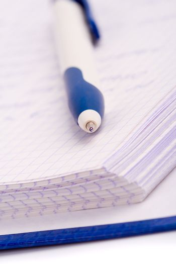 planner with pen