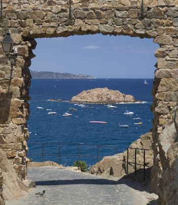 A gate on the sea