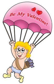 Pink parachute cupid
