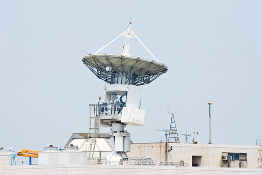 Antenna communicate with satellite