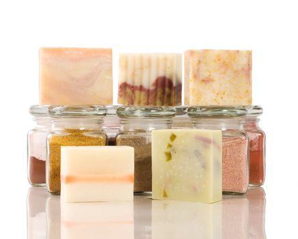 handmade soap and herb material