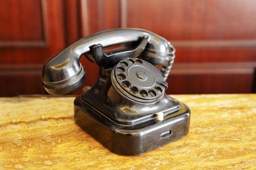 Old black Bakolite telephone