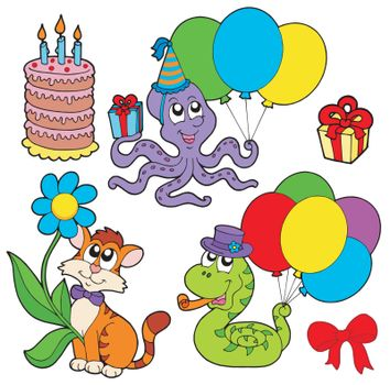 Party animals collection - vector illustration.