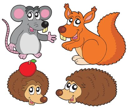 Small animals collection - vector illustration.