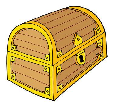 Treasure chest vector illustration