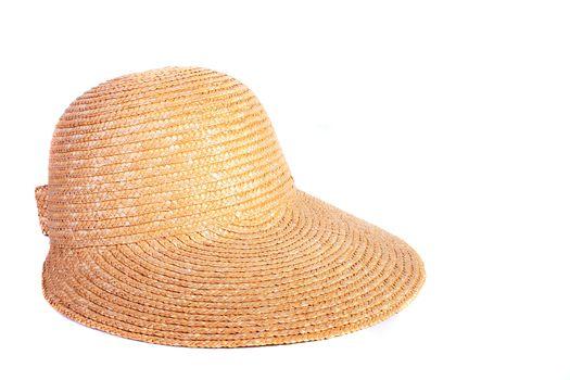 Female straw hat with a peak.