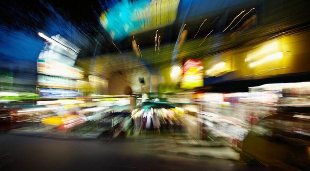 Night streets - drunk's eye view