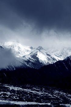 Scenic winter mountain landscape