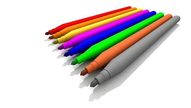 Colored Felt-Tips