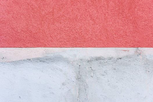 Wall texture with red and white paint
