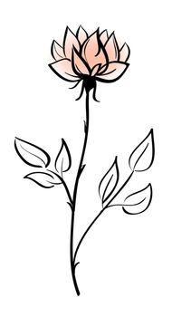 Beautiful flower vector icon