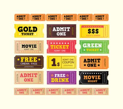 BIG COLLECTION. On movie or to Theater? Use my tickets! 12 DIFFERENT VARIANTS.