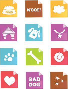 Dog iconset for dog shops, internet or magazines. Vector - easy to resize.