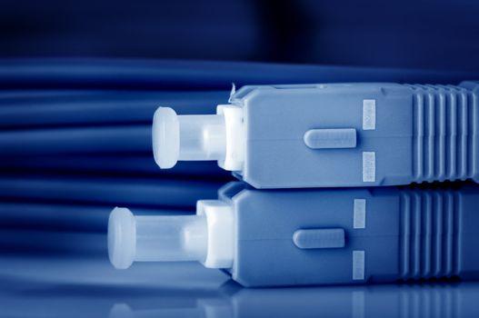 Fiber optic cables.