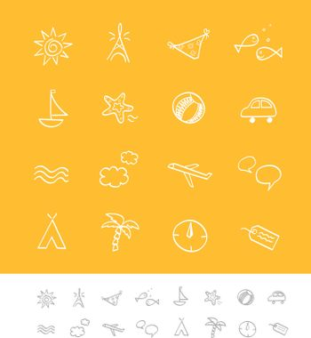 Vector icon pack for webpages and magazines.