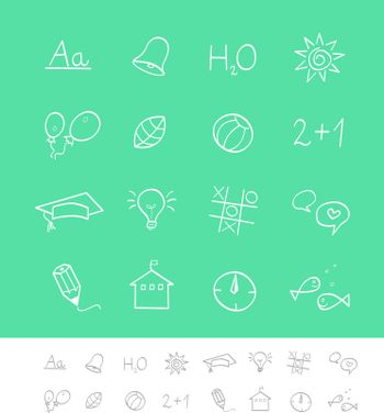 Vector pack for magazines and webpages. Schools icons.