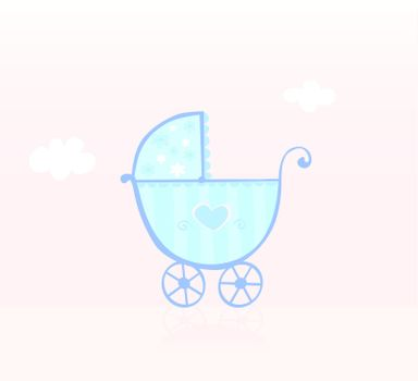 Baby boy is coming! Vector Illustration.