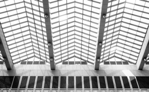 abstract geometric ceiling