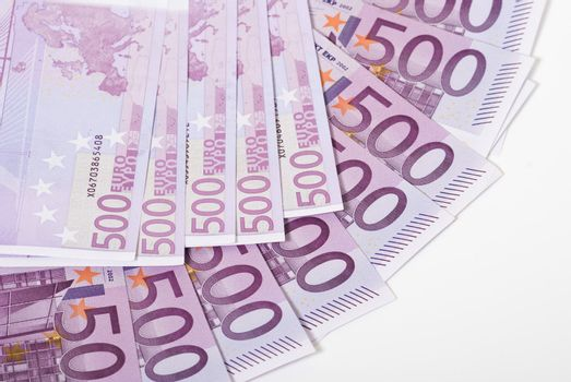 Paper money euro banknotes