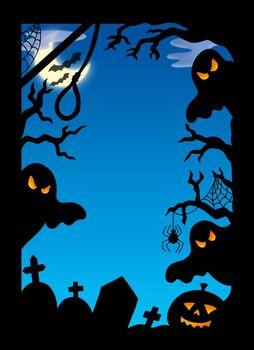 Spooky silhouette frame