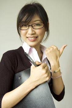 thumb up white collar