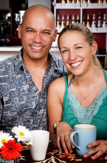 Couple in Coffee House