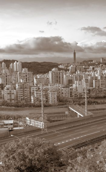 cityscape of highway