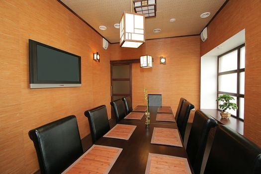 VIP a hall at new Japanese restaurant