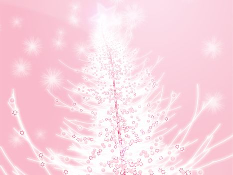 Sparkly christmas tree, abstract graphic design illlustration
