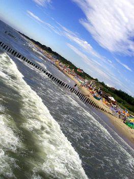 Beach view, sea