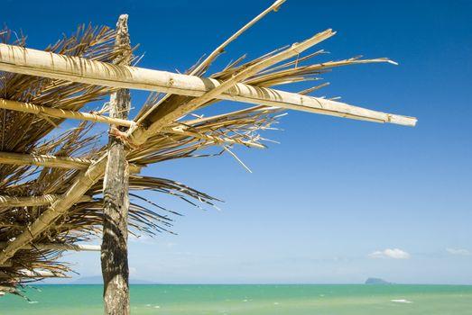 bamboo hut at seaside