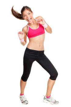 Dance fitness woman dancing