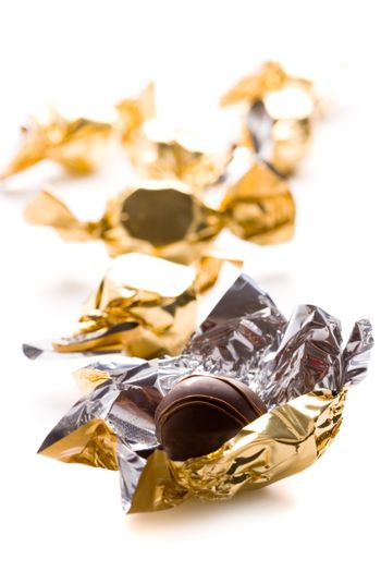 opened foil candy