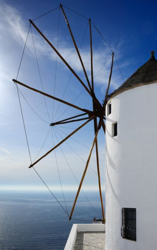 Windmill in Santorini