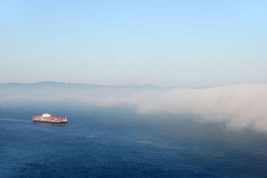 Tanker Entering Fog