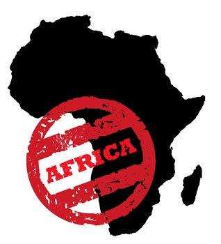 Africa continent passport stamp
