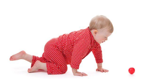 Toddler in red pajama