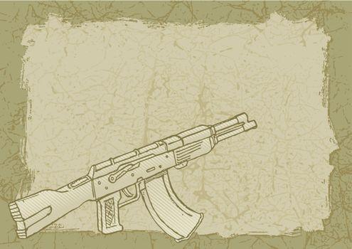 Firearm on grunge