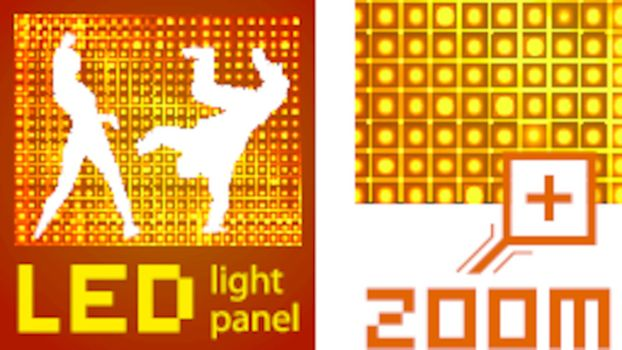 Led diode display panel vector background. Easy to resize and recolor