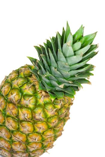 single pineapple isolated on white background
