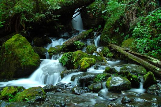 A silky waterfall horizontal