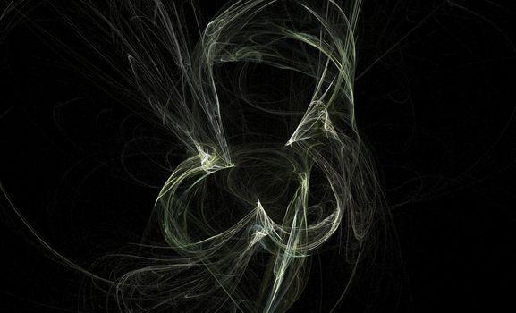 Wisp on a black background