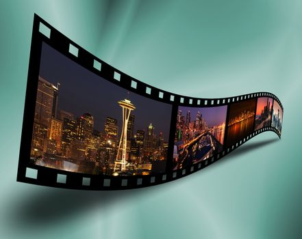 Cityscape filmstrip