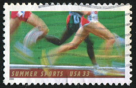 UNITED STATES - CIRCA 2000: stamp printed by United states, shows runner, circa 2000