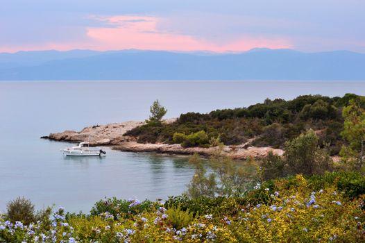 Serene seascape in Greece
