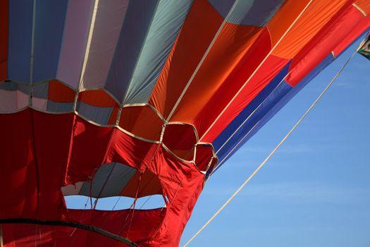 Close up of Hot air balloon evac panel