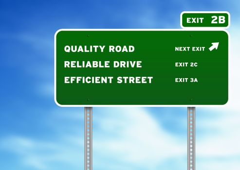Quality, Reliable, Efficient Highway Sign